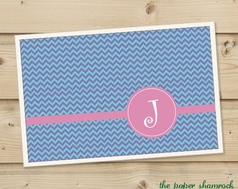 Chevron -  Personalized Placemat, Customized Placemats, Custom Placemat, Personalized Gift
