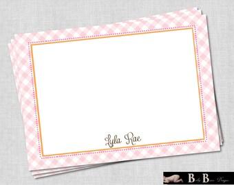 Printable Birthday Stationery Paper ~ Sweet pea birthday invitation wildflower pink gingham
