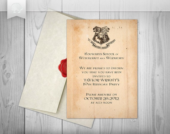 Ambitious image in harry potter printable invitations