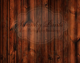 NEW ITEM 6ft x 6ft VINYL Photography Backdrop / Red Knot Wood