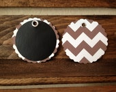 Scallop Chalkboard Tags -Mason Jar Labels / Gift Tags / Labeling Tags / Wine Glass Tags- set of 20