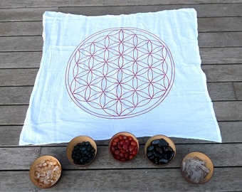 SALE- X-Large Crystal Grid Cloth --- flower of life --- all natural --- 100% cotton, sacred geometry grid template