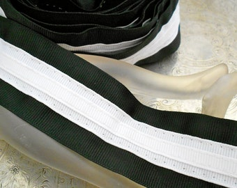 Black and White Ribbon Trim