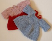Pattern for knitted dress FRIEDA, doll dress pattern, knitting for dolls, top down knit, pattern for doll clothes, tutorial