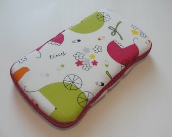 Baby Wipes Case, Travel Baby Wipes Case With a Baby Carriage Print Cute for Baby Girls