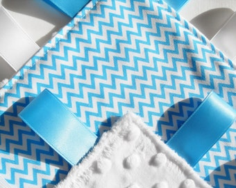 Minky Taggie Blanket Chevron Fabric taggies