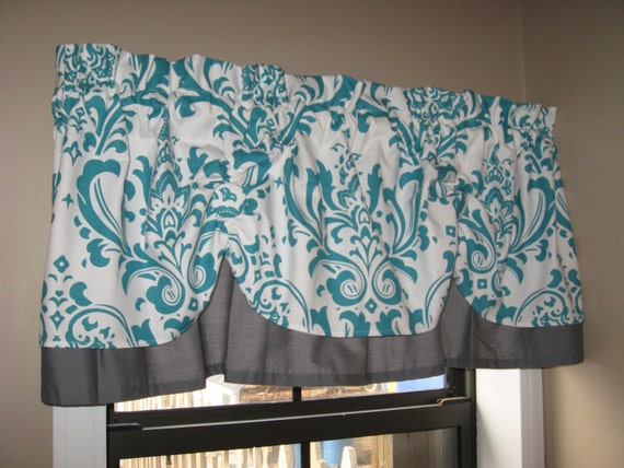 Items Similar To Valance Window Curtain Swagged Swag