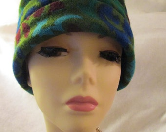 1960's Dachettes Designed by LILLY DACHE' Floral Turban for I. Magnin & Co.