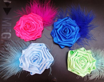 Flowers hair clips for the bachelorette party, girl party, birthday or Bridesmaids hair flowers,  FOR THE ORDER. Price for the 1 pcs.