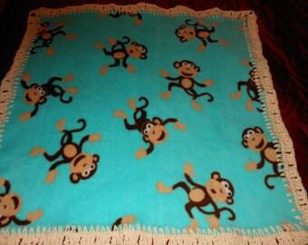 Fleece Baby Blanket Monkey