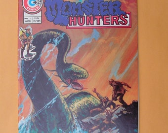 Set of Four MONSTER HUNTERS Charlton Comics - Issues 1, 5, 13, 14 - 1975