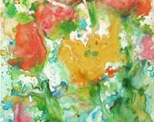 Floral -  Fine Art GICLEE Print  - Brush Stroke enhanced on Canvas Sheet - from my original Watercolor  Painting - ebsq Artist Ricky Martin