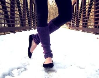 Leg Warmers Knit Leg Warmers Purple Leg Warmers Teen Leg Warmers Womens Leg Warmers