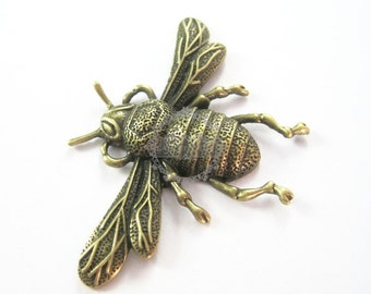 4pcs 35x55mm vintage brass bronze beetles bugs antiqued DIY pendant charm supplies 1810185