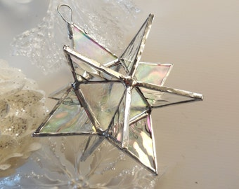 12 Point Moravian Star. Iridescent Star.