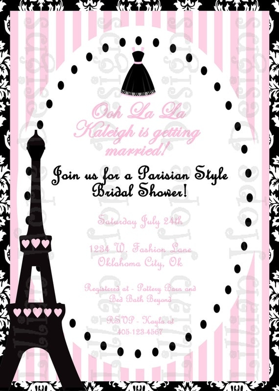 Paris bridal shower invitations gangcraft paris bridal shower invitation parisian bridal shower bridal shower invitations filmwisefo