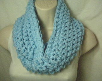 Baby Blue Cowl Infinity Circle Scarf Neckwarmer