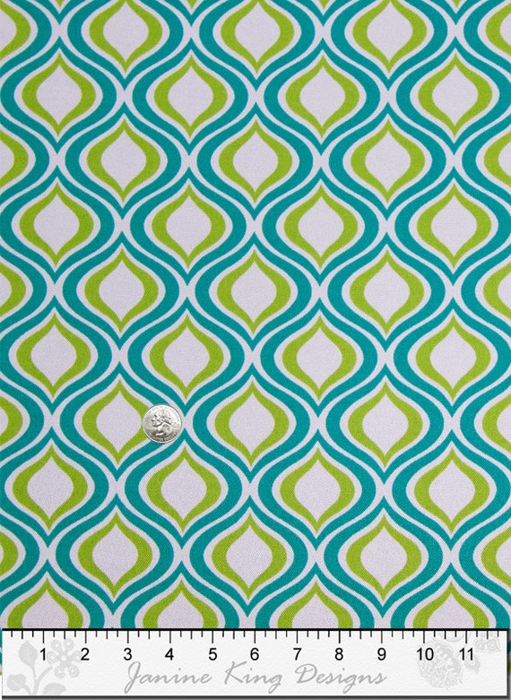 Outdoor fabric by the yard richloom zinger peacock modern for Kids outdoor fabric