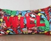 Marvel Name Pillow / Custom Kids Pillow / Name Pillow / Super Hero Pillow / Avengers Pillow