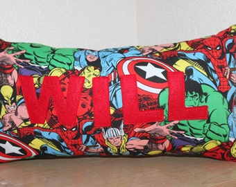 Marvel Name Pillow / Custom Kids Pillow / Name Pillow / Super Hero Pillow / Avengers Pillow