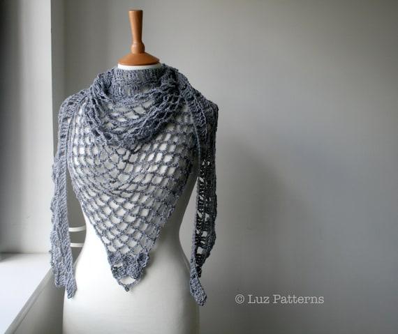 Crochet Pattern For Summer Shawl : Crochet patterns Summer Evening shawl crochet by LuzPatterns