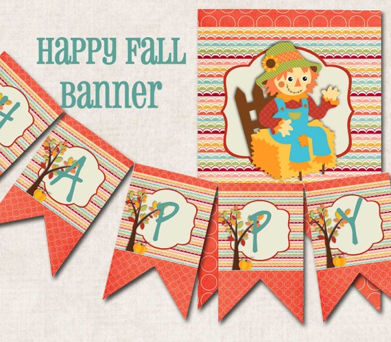 Fall Birthday Party Banner Happy Fall by missbellaexpressions