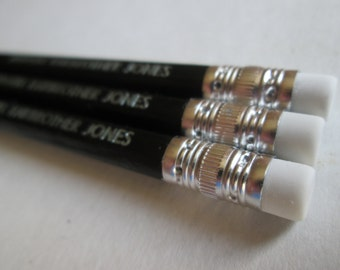 Set of 3 Personalised Pencils - Choose Your Own Wording!