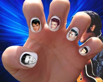 Elvis Presley // Graceland // The King //  Nail Decals Transfer // Nail Stickers // Rock N Roll //