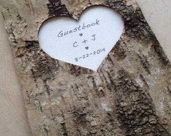 Birch Bark Wedding Guest Book - Birch Bark Advise Book - Rustic Wedding Wishes Book - Woodland Wedding - Barn Wedding