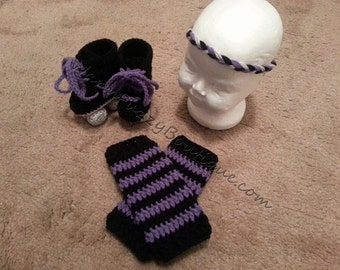 Baby Roller Derby Set - Leggings Headband Skates - Newborn Beanie Cap Shoes Halloween  Christmas Gift Winter Outfit