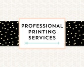 35 Invitations -  Professional Printing Add-On Service