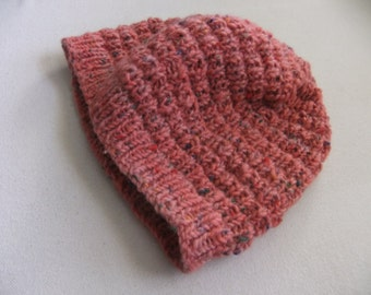Pink Confetti 100% Wool Beanie