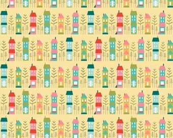 SALE-Riley Blake Fabrics - So Happy Together - Happy House - Yellow