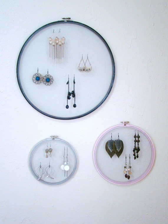 Upcycled and repurposed noir vintage embroidery hoop