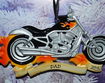 Personalized Motorcycle Christmas Ornament