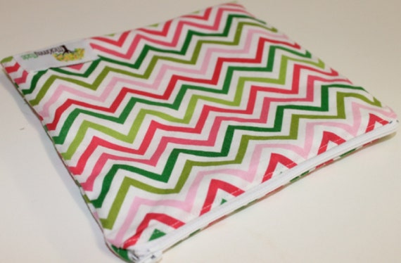 Reusable Sandwich Bag in Colorful Chevrons