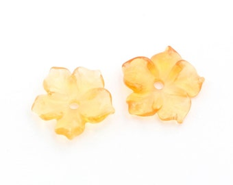 Fire Opal Flowers Stones,  8mm Round, 2 stones