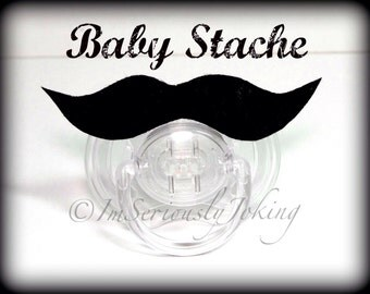 Mustache Pacifier-Baby Mustache-The Wise Guy-Little Man Party-Baby Shower gift-Baby gift-Mustache Party-Mustache Theme-Mustache Pacifier