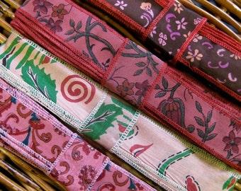 Silk Sari Ribbon, Silk Trim, 4 colors, R42