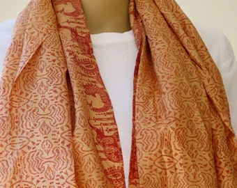 Ethnic Silk Scarf