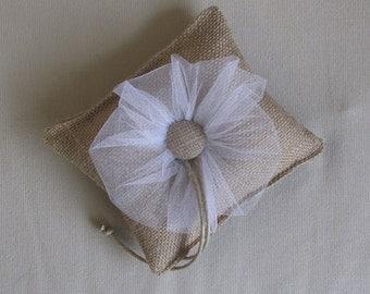 daisy tulle Ring Bearer Pillow