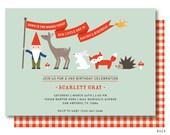 Woodland Birthday Invitations, Woodland Invitation, Fox Birthday Invite, Gnome Birthday Party | Printed or Printable