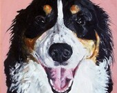 CUSTOM Dog Portrait Original Oil Painting 12x12 Pet Memorial Birthday  Gift