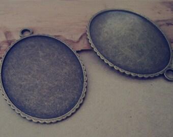 10pcs 30mmx40mm Antique Bronze Oval Pendant Base