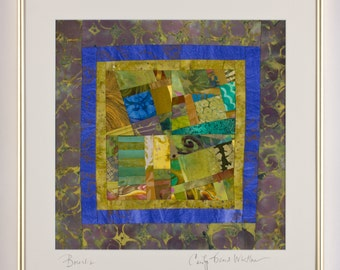 Framed Fine Art Original Art Quilt