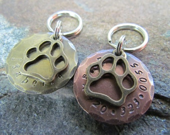 Dog Tag - Dog Collar Tag - Pet ID Tag - Personalized Pet Tag - Custom Pet ID Tag
