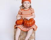 Pumpkin Crochet Baby Hat, Halloween Hat, Photo Prop