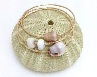 Baby Bangle Cone Shell 14kt Gold FIlled
