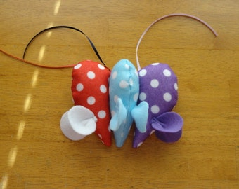 Set of Three Handmade Mice Cat Toys by Sew Practical, Mom and Pop Craft