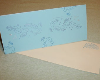 Handmade Everyday Feather Greeting Card - Blank inside - FREE Shipping in U.S.A.